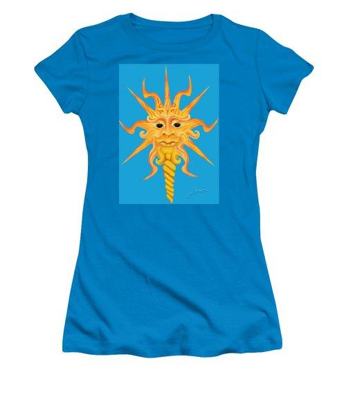 Mr. Sunface Women's T-Shirt (Athletic Fit)