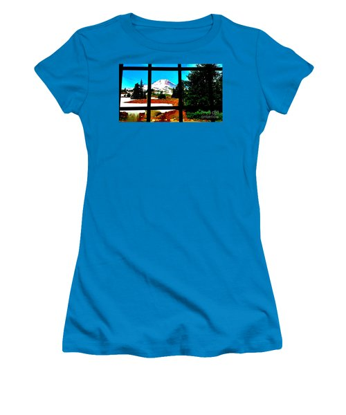 Mt. Hood View Women's T-Shirt (Athletic Fit)