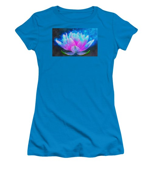 Mystic Lotus Women's T-Shirt (Junior Cut) by Anton Kalinichev