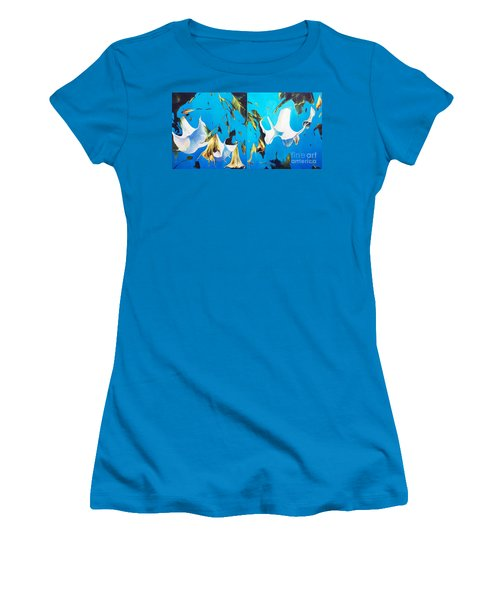 Mysticoblue Women's T-Shirt (Athletic Fit)