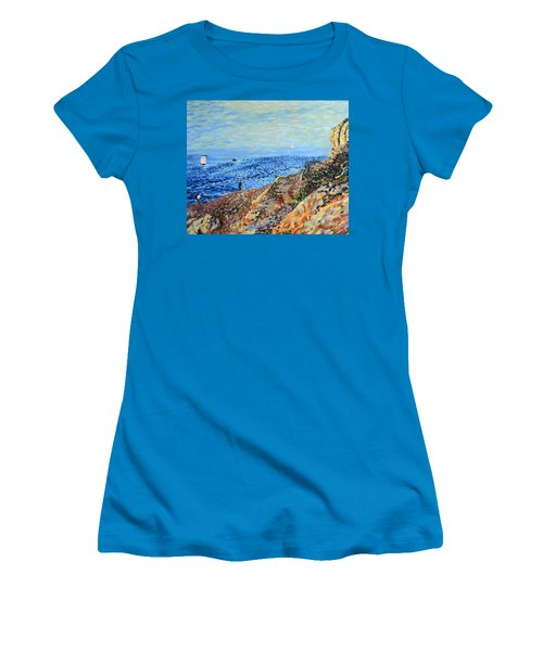 November Day At Point Lobos San Francisco Women's T-Shirt (Athletic Fit)