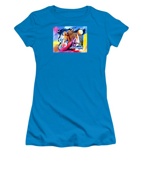 Nude Woman And Sailboat Women's T-Shirt (Athletic Fit)