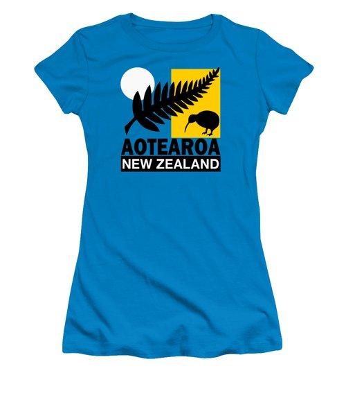 Nz-new Zealand Women's T-Shirt (Athletic Fit)