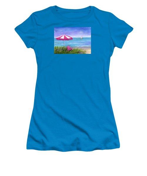 Women's T-Shirt (Junior Cut) featuring the painting Ocean Breeze by Sandra Estes