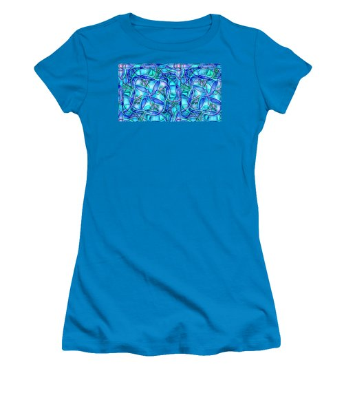 Organic In Square Women's T-Shirt (Junior Cut) by Ron Bissett