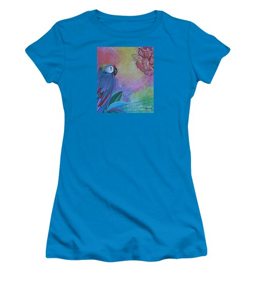 Parrot In Paradise Women's T-Shirt (Athletic Fit)