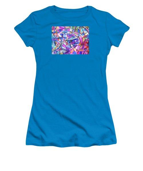 Pastel Kaleidoscope Women's T-Shirt (Athletic Fit)