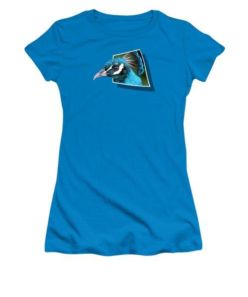 Peacock Women's T-Shirt (Junior Cut) by Shane Bechler