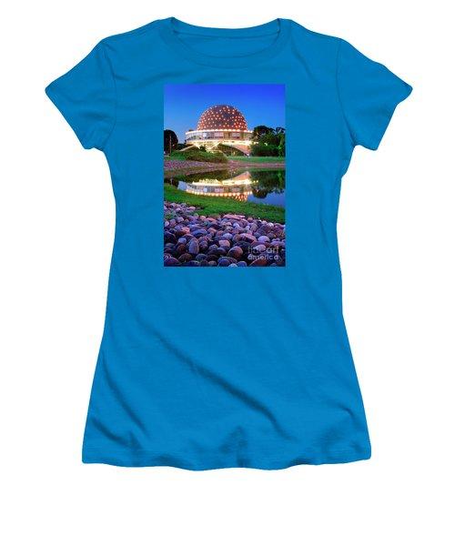 Women's T-Shirt (Junior Cut) featuring the photograph Planetario by Bernardo Galmarini