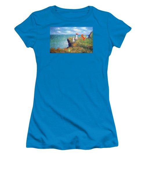 Women's T-Shirt (Junior Cut) featuring the digital art Pokemonet Seaside by Greg Sharpe