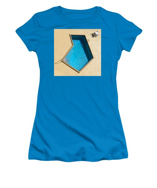 Women's T-Shirt (Junior Cut) featuring the photograph Pool Modern by Laura Fasulo