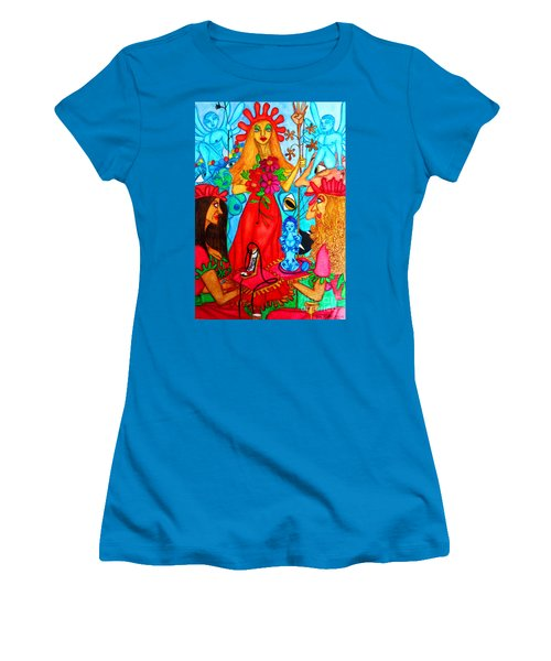 Women's T-Shirt (Junior Cut) featuring the painting Princess Countrywoman. by Don Pedro De Gracia
