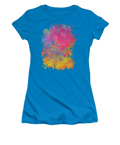 Psychedelic Laundry Transparent Design Women's T-Shirt (Junior Cut) by Shelly Weingart