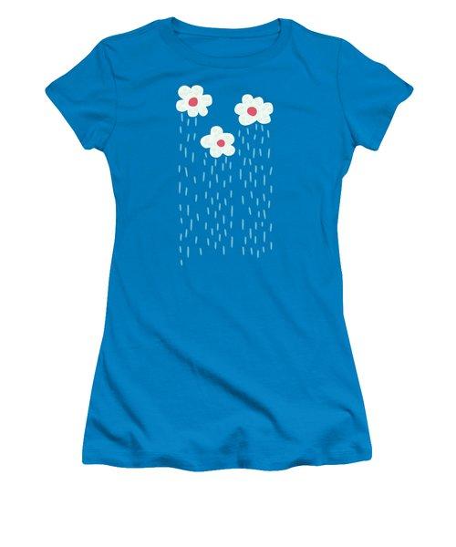 Raining Flowery Clouds Women's T-Shirt (Junior Cut)