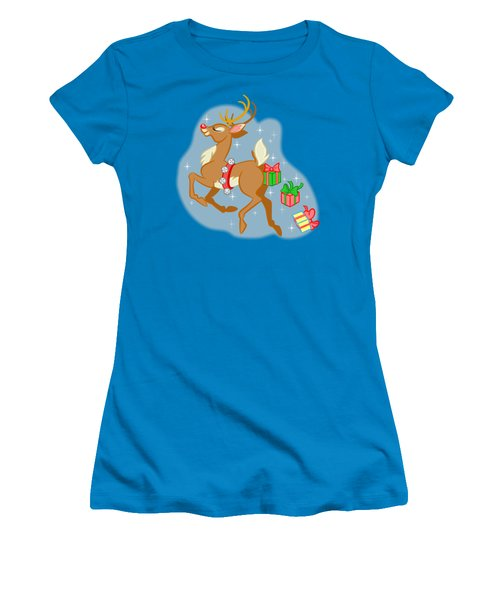 Naughty Reindeer Women's T-Shirt (Athletic Fit)