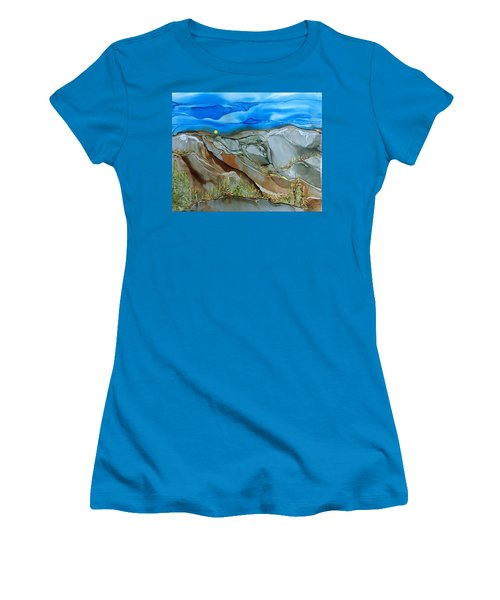 Women's T-Shirt (Junior Cut) featuring the painting Rugged by Pat Purdy