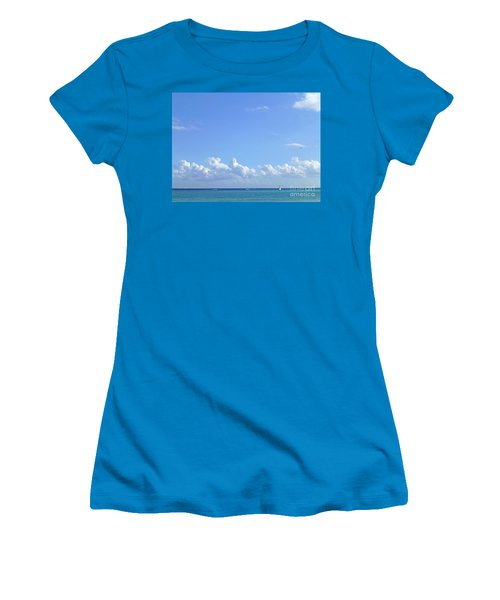 Women's T-Shirt (Athletic Fit) featuring the photograph Sailing Blue Seas by Francesca Mackenney