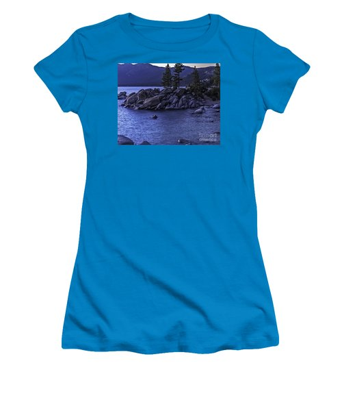 Women's T-Shirt (Junior Cut) featuring the photograph Sand Harbor South by Nancy Marie Ricketts