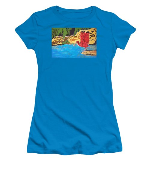 Scarlet Ibis Women's T-Shirt (Athletic Fit)