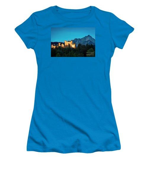 Women's T-Shirt (Junior Cut) featuring the photograph Schloss Hohenschwangau by Brian Jannsen