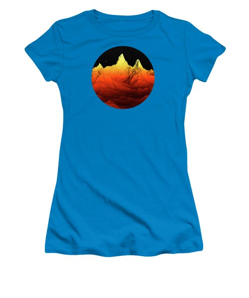 Sci Fi Mountains Landscape Women's T-Shirt (Junior Cut) by Phil Perkins