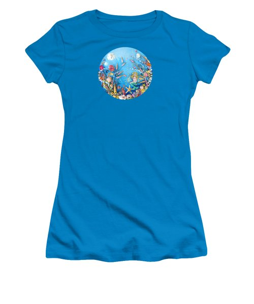 Sculpted Mermaid Sea World Women's T-Shirt (Athletic Fit)