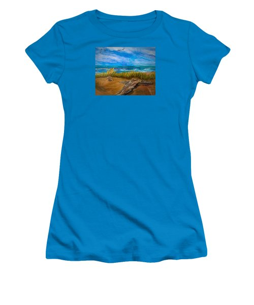 Serenity On A Florida Beach Women's T-Shirt (Athletic Fit)