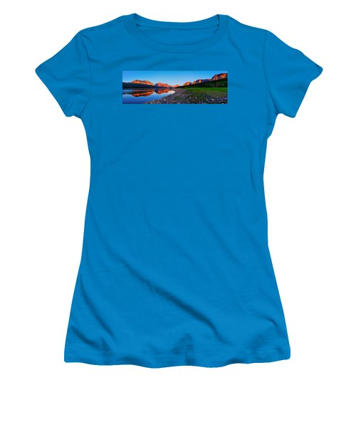 Women's T-Shirt (Junior Cut) featuring the photograph Sherburne Shore Sunrise Panorama by Greg Norrell