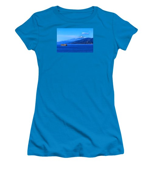 Sleeping Giant Women's T-Shirt (Junior Cut) by Laura Ragland