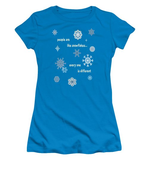 Snowflakes 5 Women's T-Shirt (Junior Cut) by Methune Hively