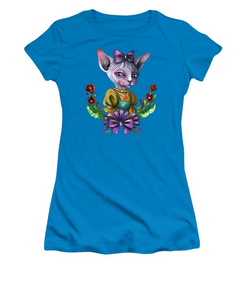 Sphynx Girl Women's T-Shirt (Junior Cut) by Akiko Okabe