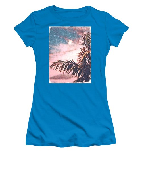 Starlight Palm Women's T-Shirt (Athletic Fit)