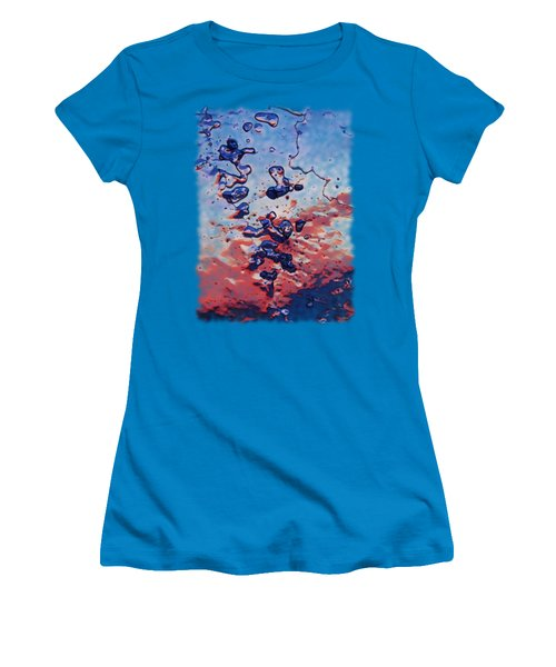 Women's T-Shirt (Junior Cut) featuring the photograph Sunset Flakes by Sami Tiainen
