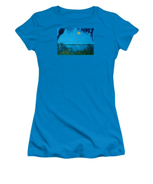 Super Moon Rising Women's T-Shirt (Athletic Fit)