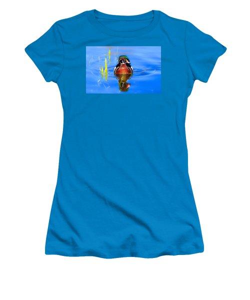 Swirls In The Reeds Women's T-Shirt (Junior Cut) by Lynn Hopwood