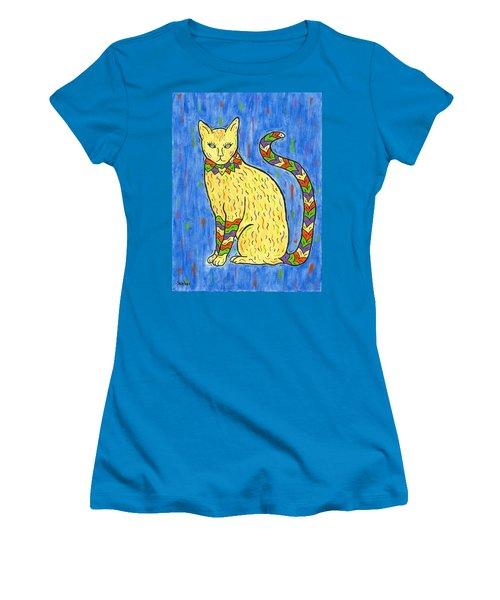 Tabby Kat Women's T-Shirt (Junior Cut) by Susie WEBER