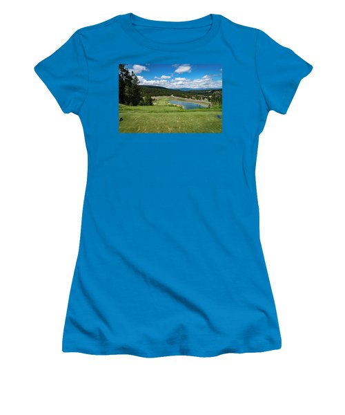 Women's T-Shirt (Junior Cut) featuring the photograph Tee Box With As View by Darcy Michaelchuk