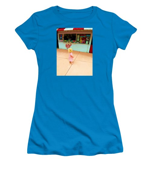 Women's T-Shirt (Junior Cut) featuring the photograph The Candy Store by Lanita Williams