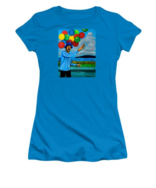 The Balloon Vendor Women's T-Shirt (Junior Cut) by Cyril Maza