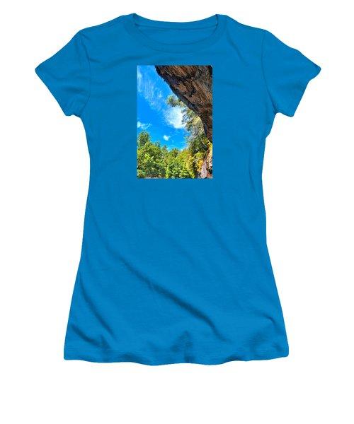 The Cliffs At Bridal Veil Falls Women's T-Shirt (Junior Cut) by James Potts