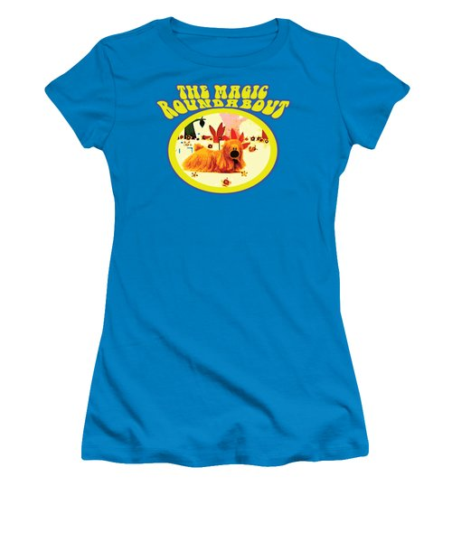 The Magic Roundabout Retro Design Hippy Design 60s And 70s Women's T-Shirt (Junior Cut) by Paul Telling