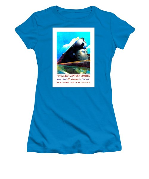 The New 20th Century Limited New York Central System 1939 Leslie Ragan Women's T-Shirt (Athletic Fit)