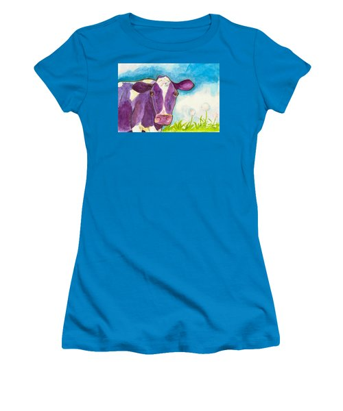 The Purple Cow Women's T-Shirt (Junior Cut) by Whitney Morton