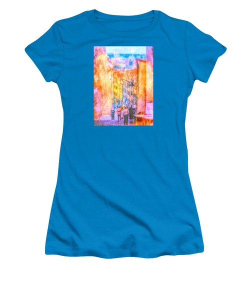 Women's T-Shirt (Junior Cut) featuring the photograph The Streets Of Prague by Andreas Thust