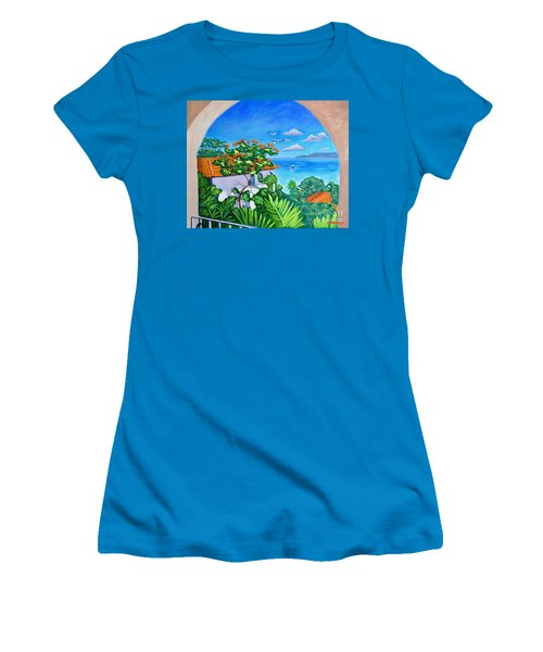 The View From A Window Women's T-Shirt (Athletic Fit)