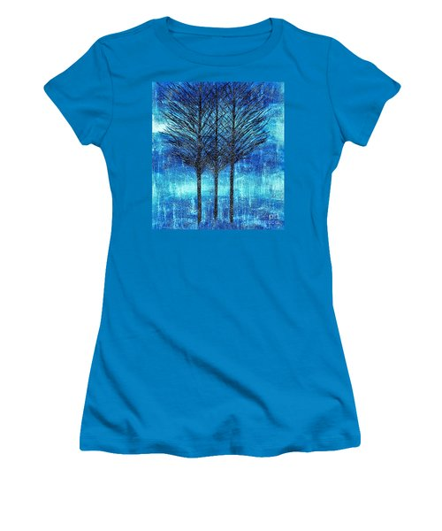 Three Trees  Women's T-Shirt (Athletic Fit)