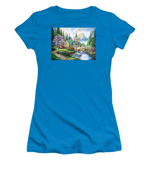 Time To Come Home Women's T-Shirt (Junior Cut) by Karen Showell