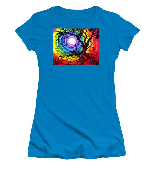 Tree Of Life Meditation Women's T-Shirt (Junior Cut) by Laura Iverson