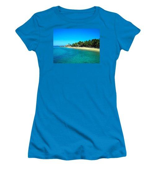 Tropical Bliss Women's T-Shirt (Junior Cut) by Betty Buller Whitehead