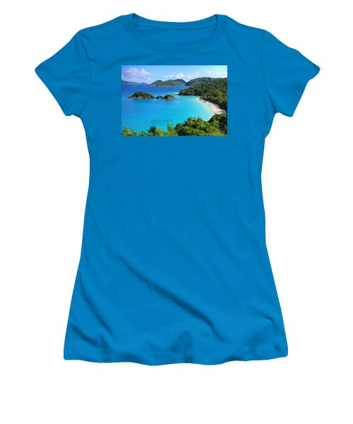 Trunk Bay St. John Women's T-Shirt (Athletic Fit)